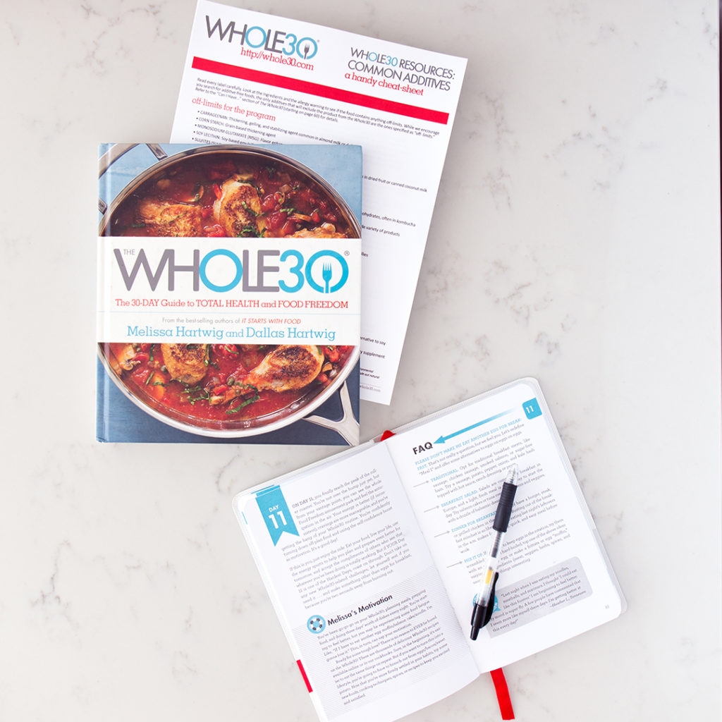 The Whole30 and Day by Day books
